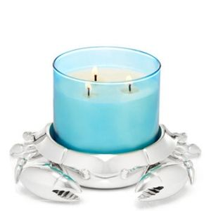 SILVER CRAB 3-Wick Candle Holder